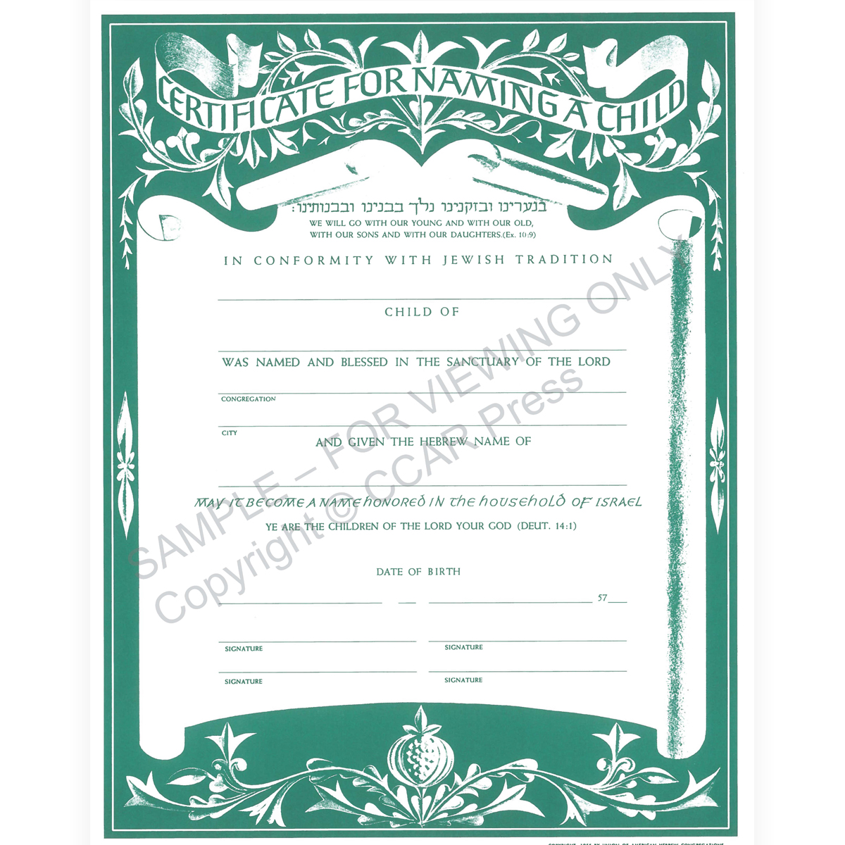 certificate of promotion template